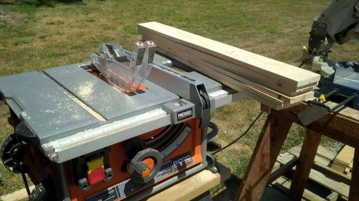 resizing and sanding of pallets