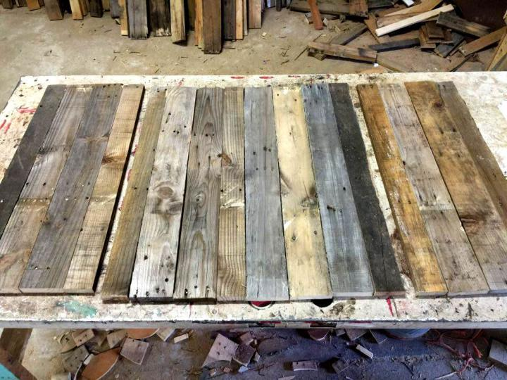 deconstructed pallet boards