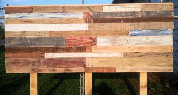 wooden pallet queen headboard