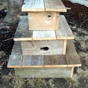 recycled pallet cup cake stand