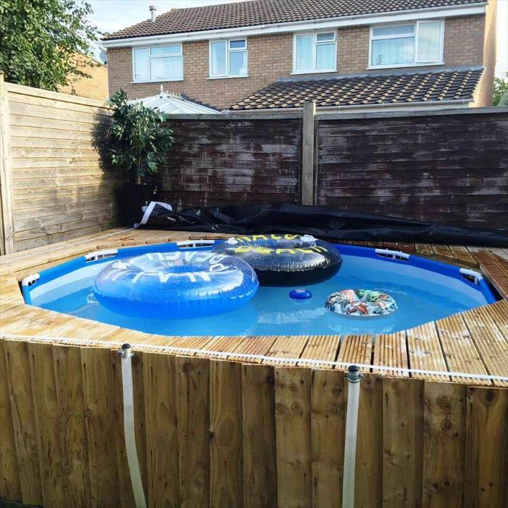 handmade pallet swimming pool