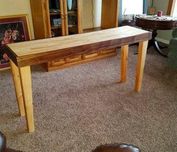 pallet entry way table