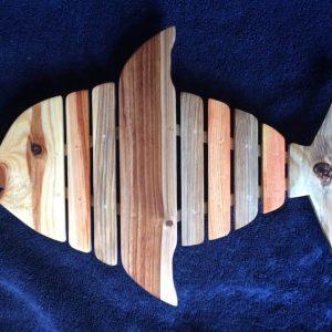 wooden pallet fish trivet