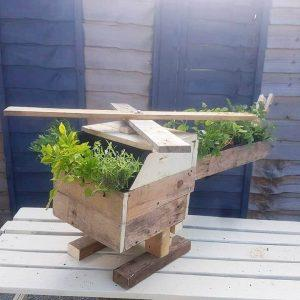 pallet helicopter garden planter or sculpture