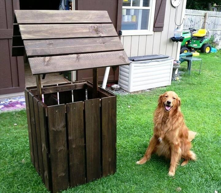 no-cost wooden pallet wishing well