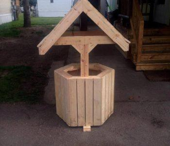 diy pallet garden wishing well decor