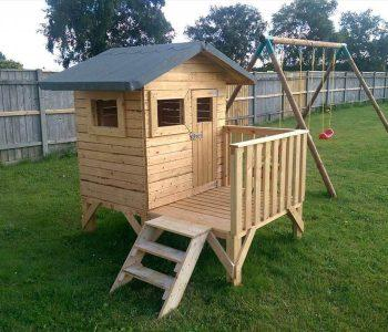 no-cost pallet playhouse