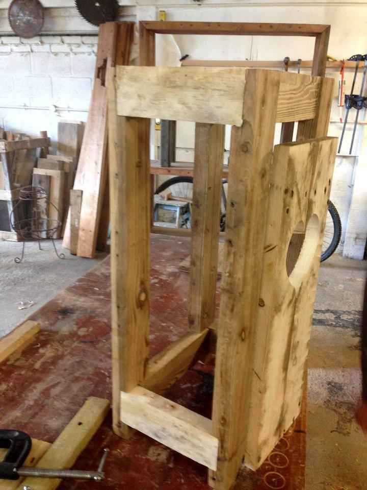how to build a bathroom cupboard out of pallets