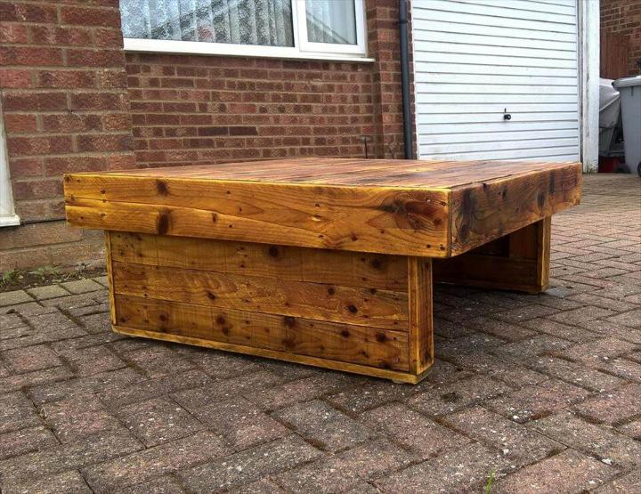 lasting longer wooden pallet coffee table
