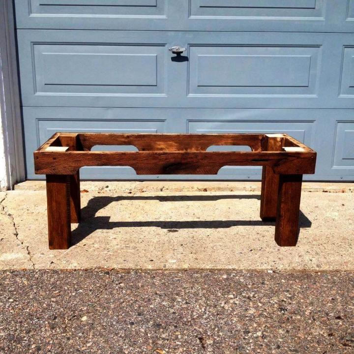 oak pallet table frame