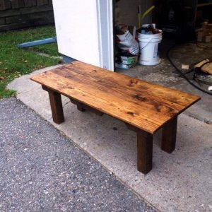pallet oak and pine pallet table