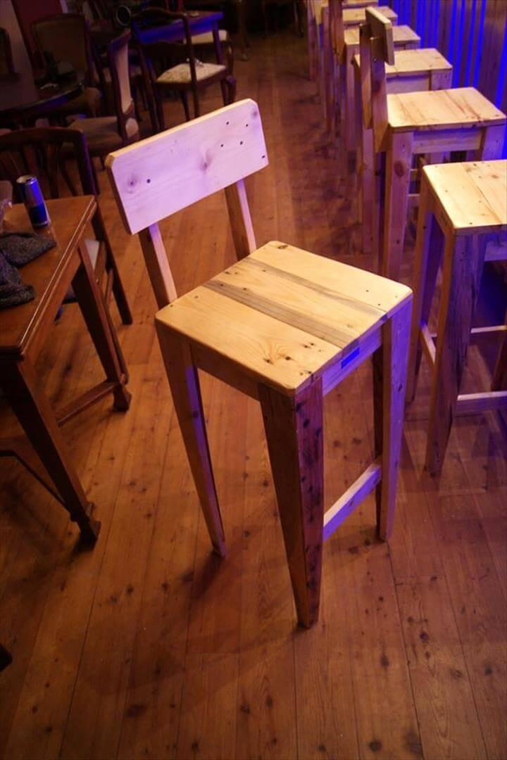 wooden pallet bar chair