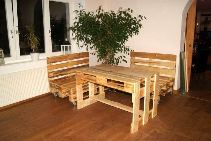 wooden pallet bar corner sitting set