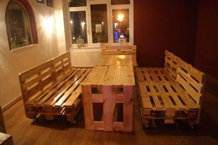 robust pallet bar sitting set