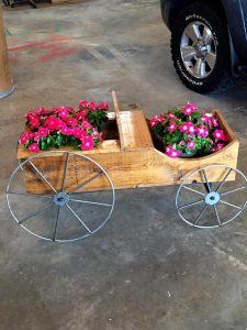 Upcycled Pallet Cart Planter