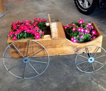 pallet cart planter for garden