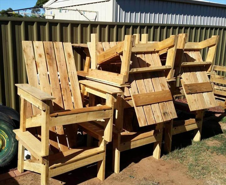pallet-made chairs