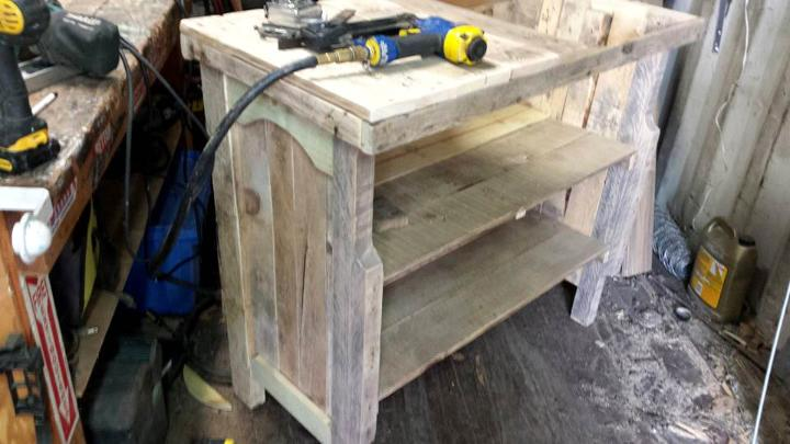 upcycled wooden pallet coffee cart instructions