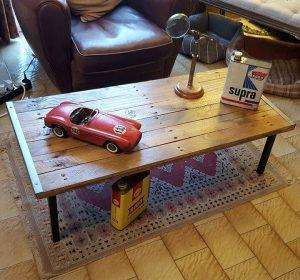 lasting pallet and metal coffee table