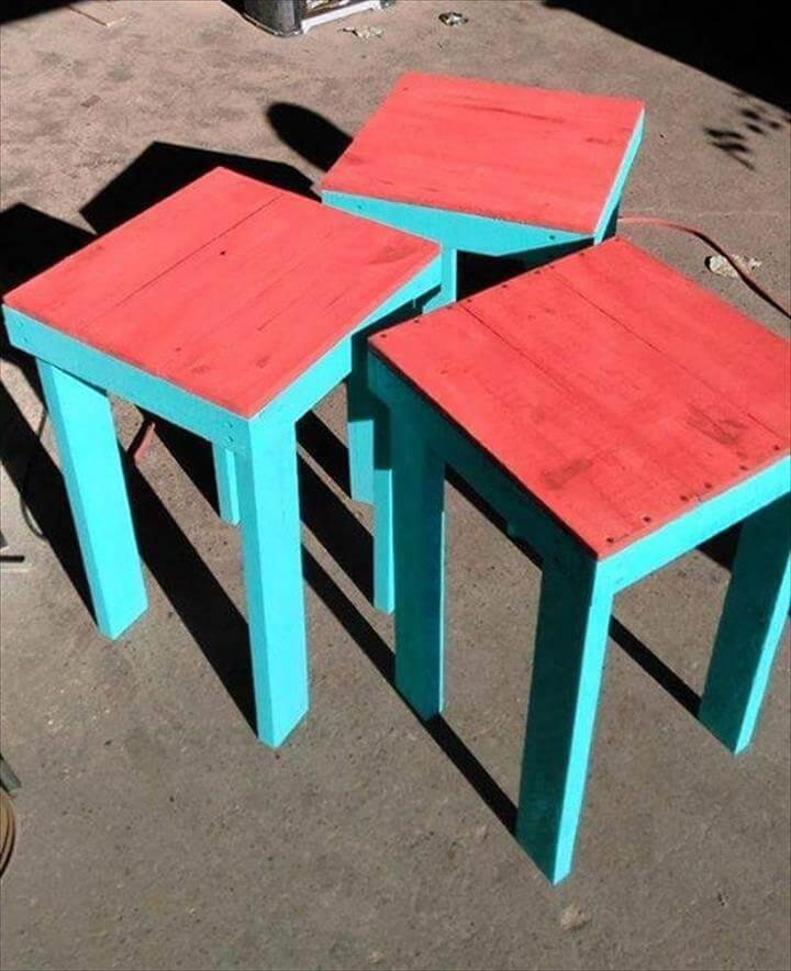 Cute pallet end tables