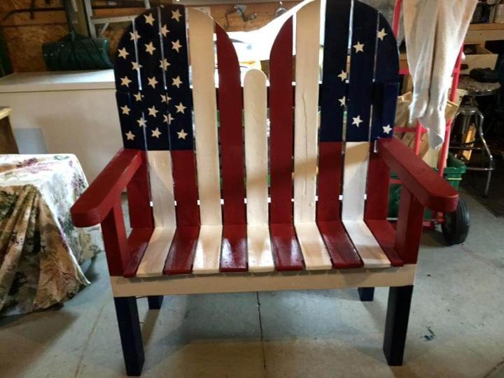 amazing pallet flag bench