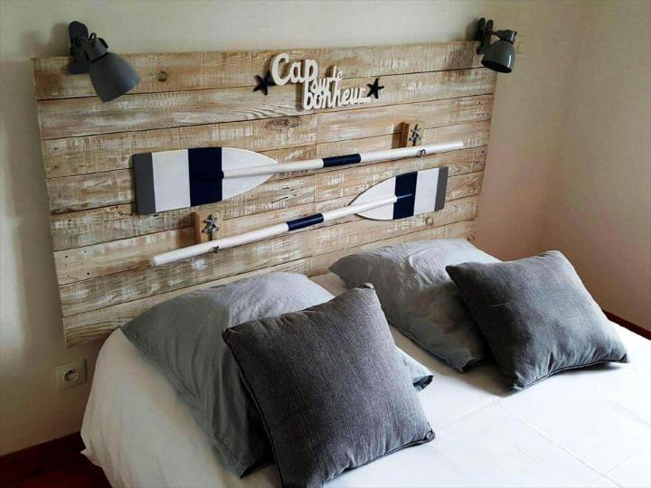 diy pallet headboard inspired of coastal decors