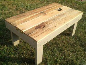 Re-purposed Pallet Secret Beer Cooler & Outdoor Coffee Table