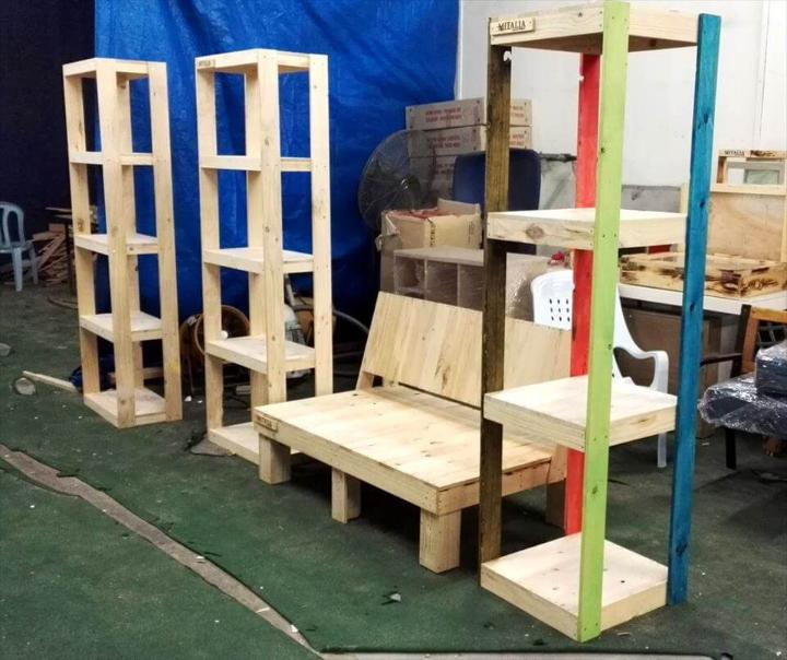 Wooden pallet shop furniture