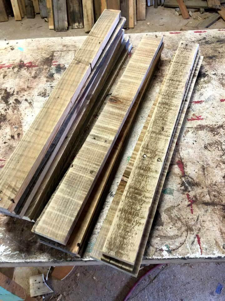 wooden pallet slats