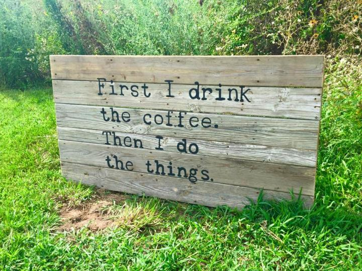 pallet quoted wall sign