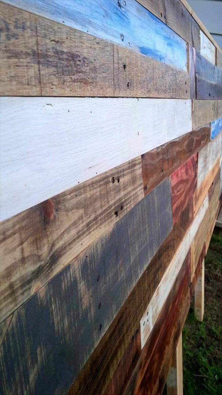 no-cost pallet queen headboard