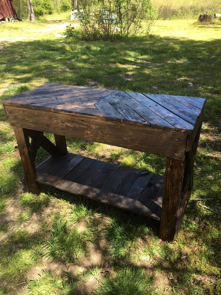 Pallet Sofa Table {diy} - Easy Pallet Ideas