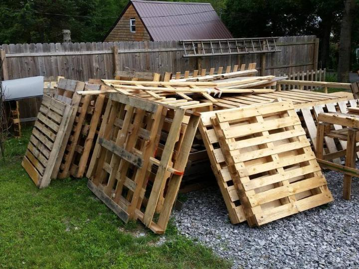 rustic wooden pallets