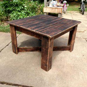 sturdy wooden pallet coffee table