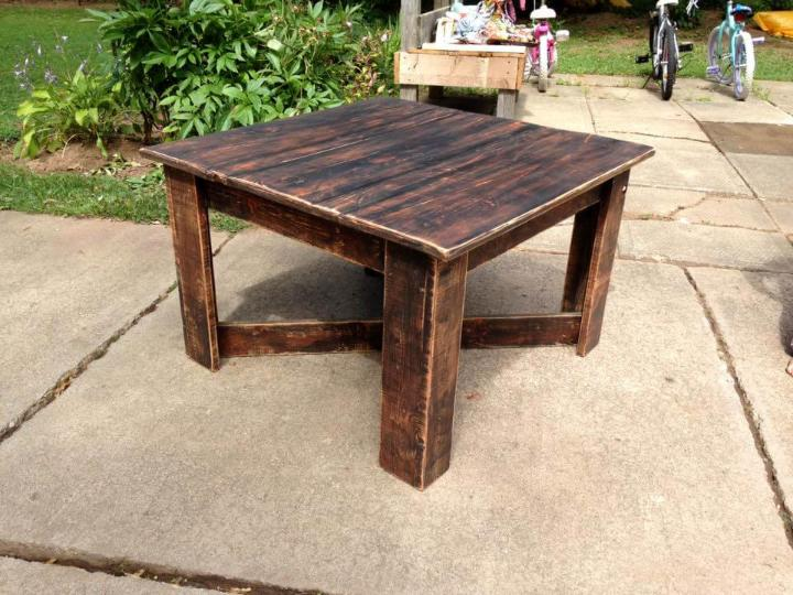 upcycled pallet coffee table easy pallet ideas. Black Bedroom Furniture Sets. Home Design Ideas