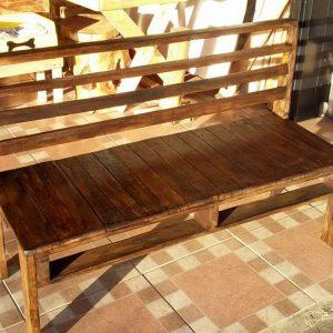 diy wooden pallet rustic bench