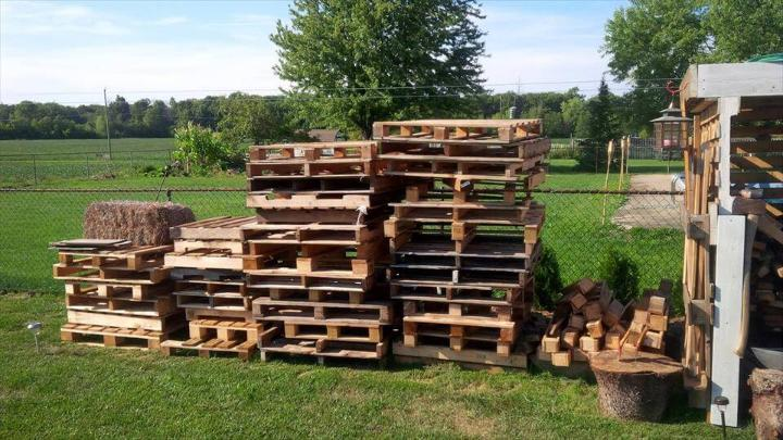 retired rustic pallet skids