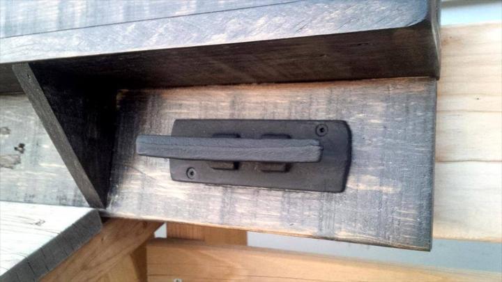 handmade wooden pallet custom shelf