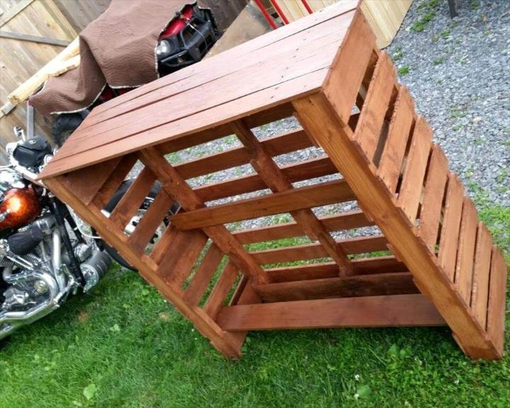 diy lasting wooden pallet bar