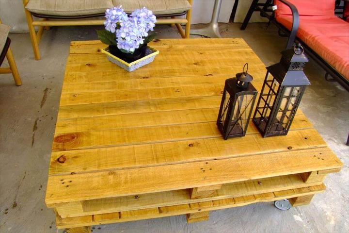 stacked pallet coffee table