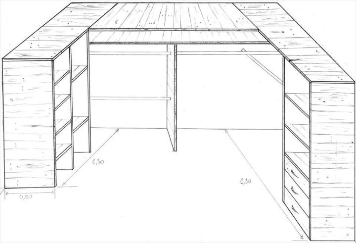 pallet corner cupboard or closet plan