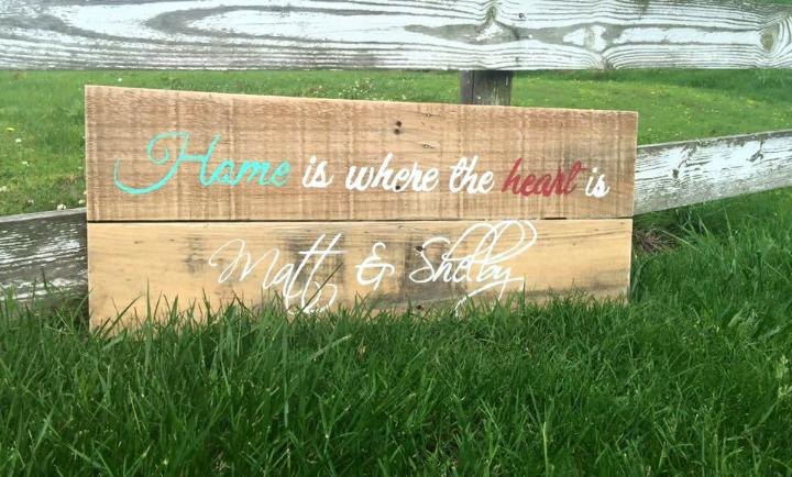 upcycled pallet quoted wall art