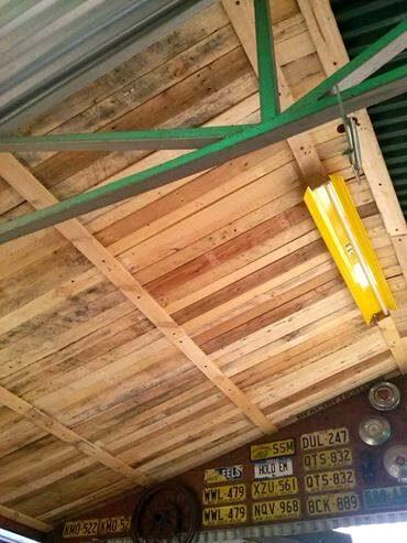 upcycled pallet wood roof