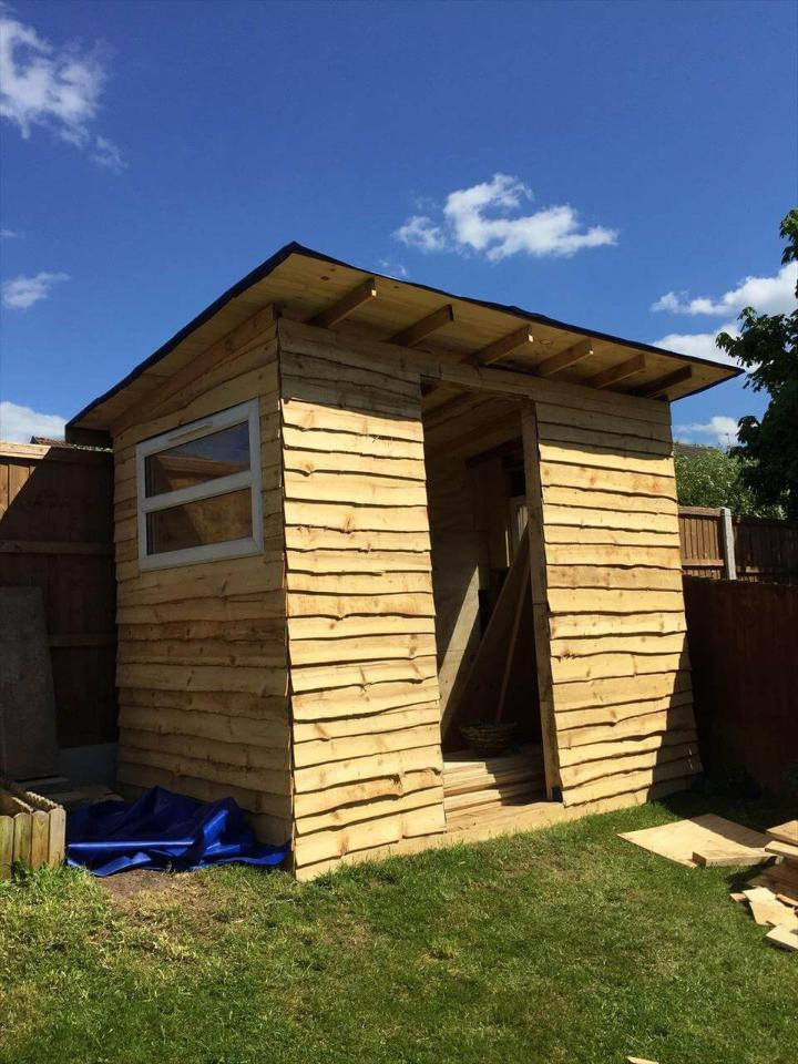 How To Build A Pallet Shed Step By Step Easy Pallet Ideas