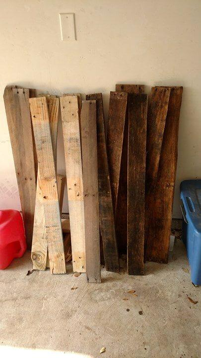 separated apart pallet wood slats