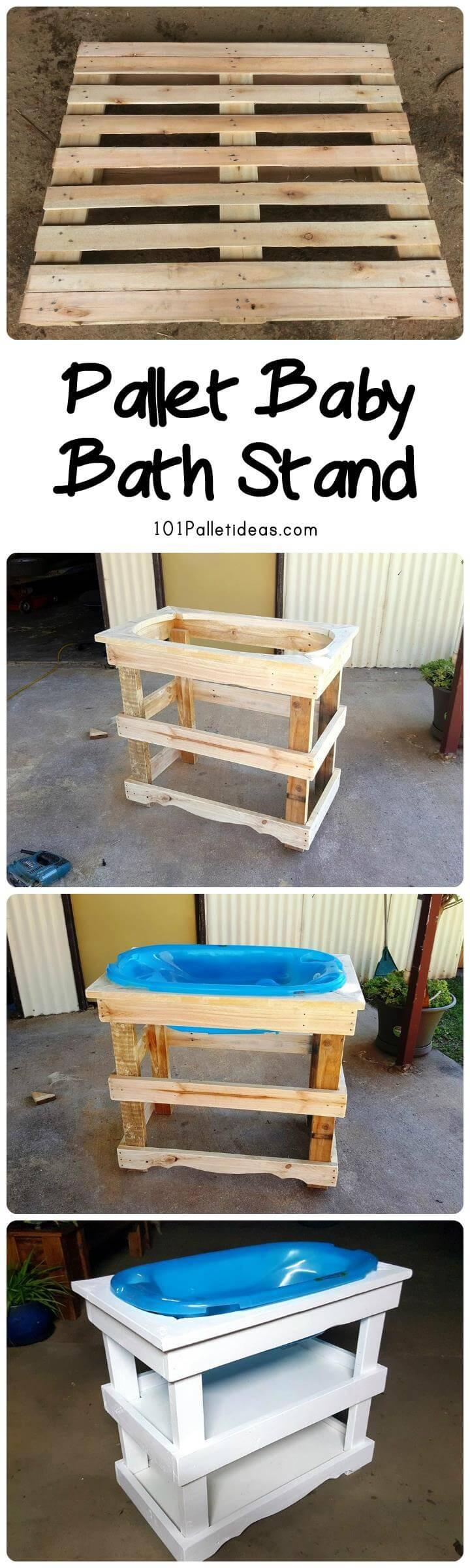 Pallet Baby Baath Stand
