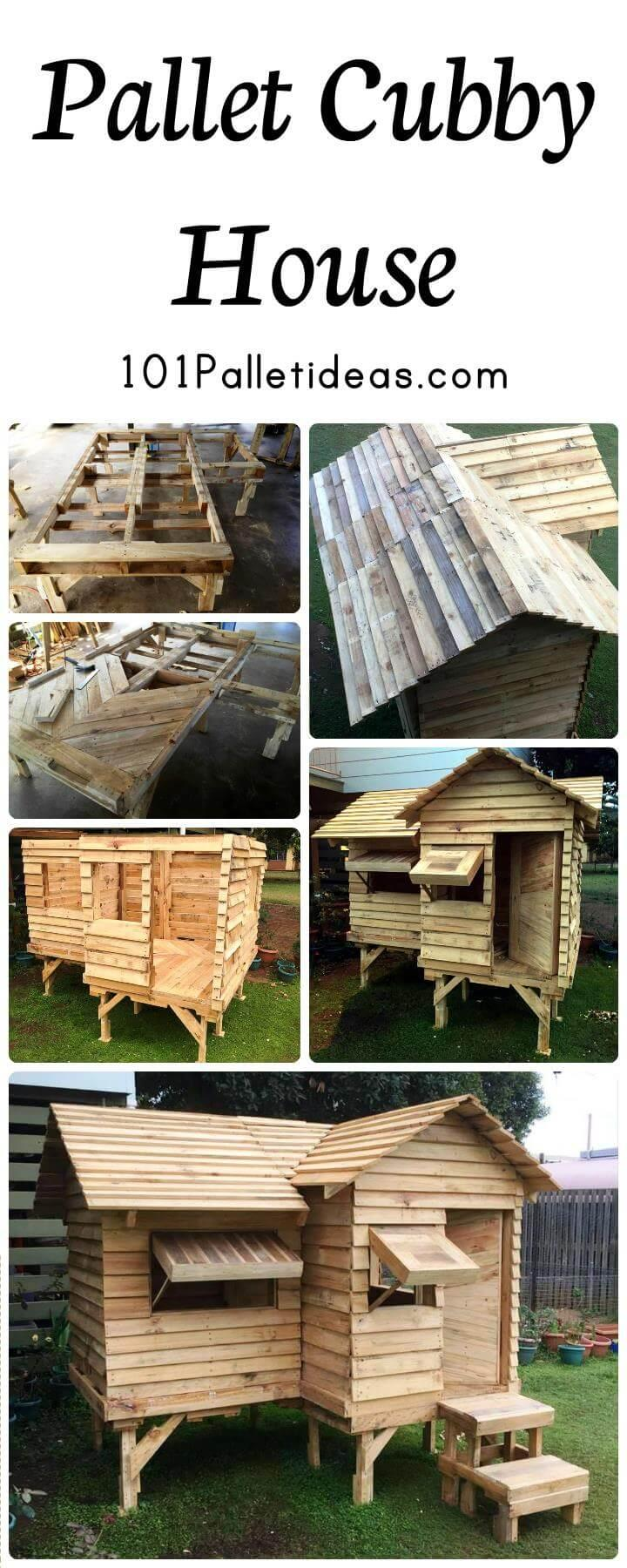 Pallet Cubby House or Pallet Playhouse
