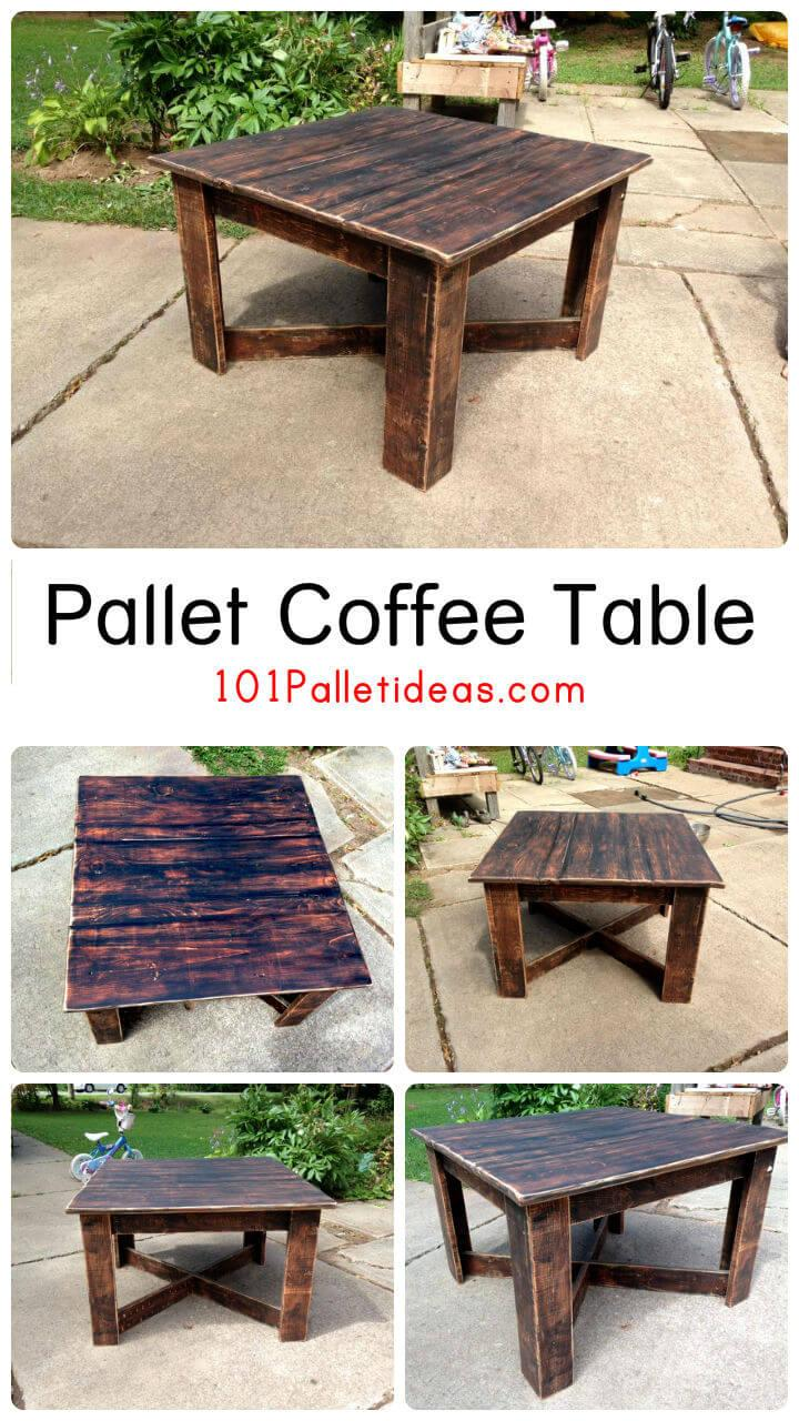 Upcycled Pallet Coffee Table Easy Pallet Ideas
