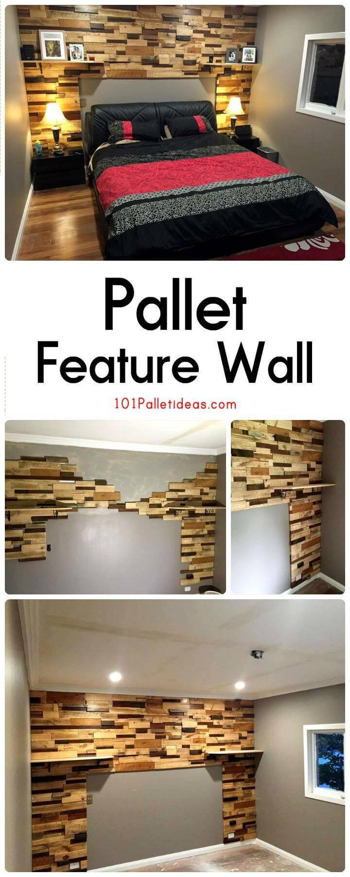 Pallet Feature Wall Easy Pallet Ideas