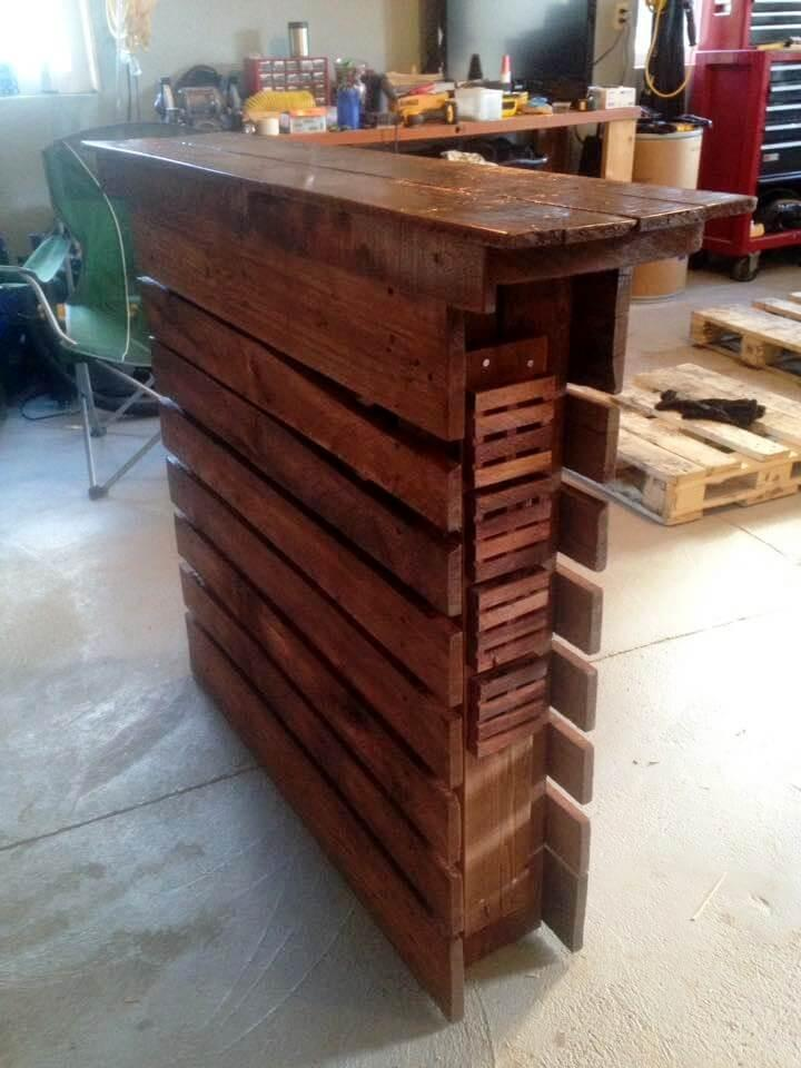 bar table made of pallets